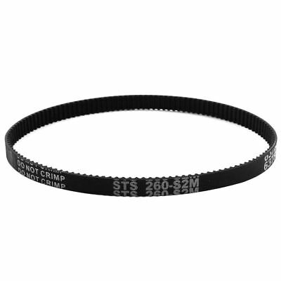 S2M-260 130 Teeth 6mm Width Black Rubber Cogged Industrial Timing Belt
