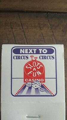 Matchbook Slots of Fun Casino Las Vegas NEVADA Great FREE SHIPPING CAN USA