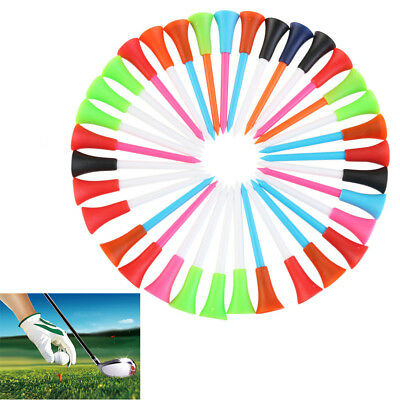 Golf Tee Quality Plastic with Colorful Tees rubber Cushion Top 100pcs x 85mm AU