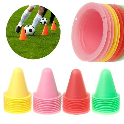 10 Pcs Skate Marker Cones Roller Soccer Football Training Equipment Marking Cup