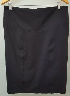 Ripe Maternity Stretchy Black Pencil Skirt Size S Work Corporate Business Wear