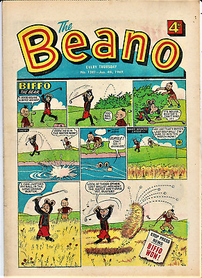 BEANO  # 1381 January 4th 1969 the comic issue