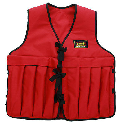 Adjustable Weighted Vest Fitness Running Gym Weight Loss Jacket Waistcoat UK