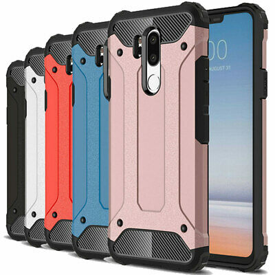 Dooqi Shockproof Tough Hybrid Bumper Armor Protective Cover Case For LG G7 ThinQ