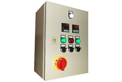 Powder coating oven control panel single phase supply, temperature control panel