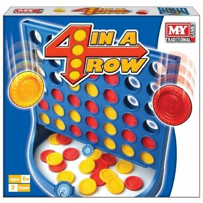 Connect 4 In A Row Board Game Family Kids Childrens Fun Trip Party Garden Toy