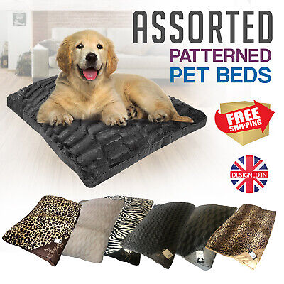 Zipped Washable Dog Cat Pet Bed Cushion Pillow Mattress Mat Fleece Fur Lined