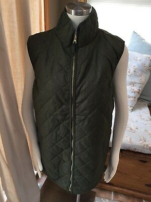 NEW Old Navy Maternity Olive Green Diamond Quilted Vest 2XL XXL