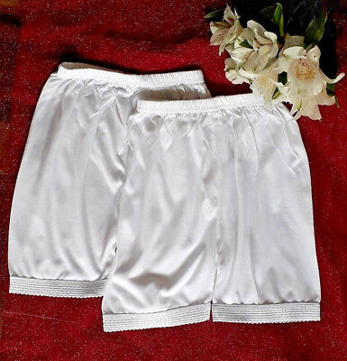 2 Pack kids girls white cotton rich Knickers SHORTS COMFY school FULL BRIEF NEW
