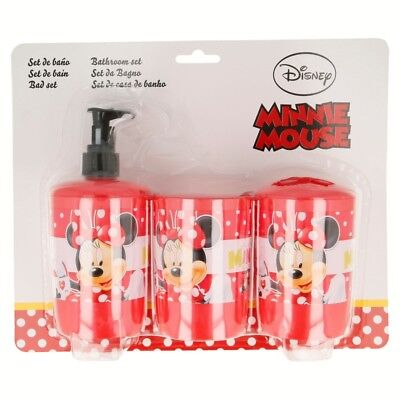 SET DE BAÑO 3 UNID. Minnie Mouse MAD ABOUT SHOPPING