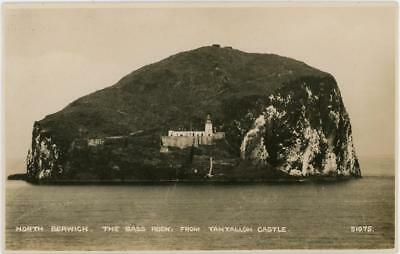 EARLY 1900's NORTH BERWICK BASS ROCK LIGHTHOUSE EAST LOTHIAN PHOTOCHROM RP