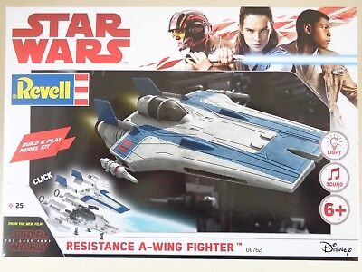 Revell 06762, Star Wars Resistance A-Wing Fighter, Blue, Build & Play, Bausatz