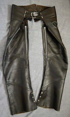 Harley Davidson VINTAGE AMF Hand Crafted Leather Chaps (1970's)*Small*Super Rare