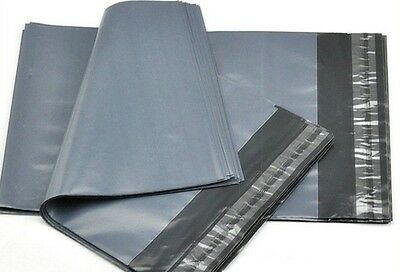 A4 MAILING BAGS / ENVELOPES GREY POLYTHENE SELF SEAL PLASTIC 250 x 350mm