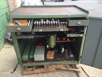 Deckel Tool Cabinet  Model FZWS  no tooling   will ship FP1 FP2 Mill /Pantograph