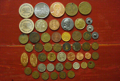 1800s Lot of Tokens Medals Game Counters Coins