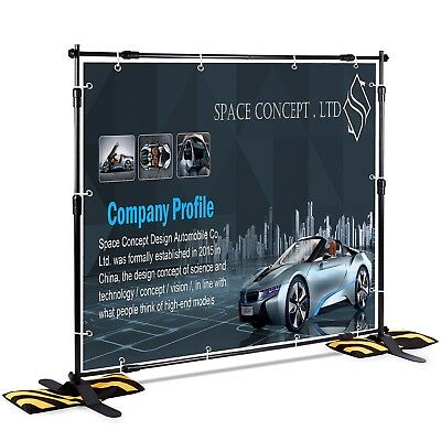 T-Sign 8'x8' Professional Backdrop Banner Stand Large Tube Heavy Duty Tel... New