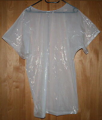 PVC Tshirt weiß transparent top ultra soft
