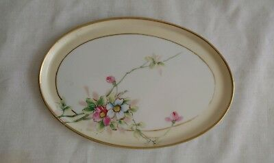 Vintage Nippon Hand Painted Rose Floral Small Tray