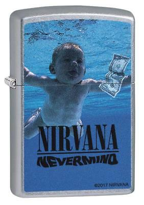 "Zippo ""Nirvana-Nevermind"" Street Chrome Finish Lighter, Full Size, 29713"