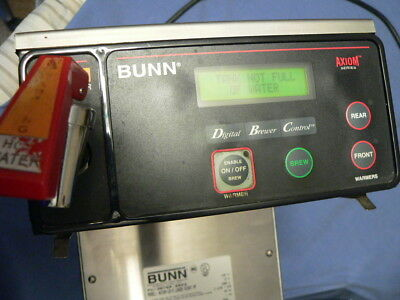 BUNN Commercial Coffee Maker - Axiom-15-3,  RT PF (3 Warmers) Owners Upgraded