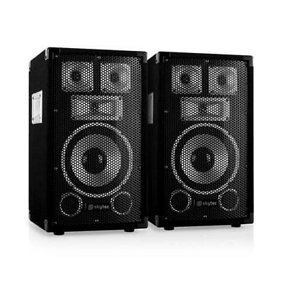 "Paar Dj Pa Lautsprecher 8"" (20Cm) Subwoofer Studio Party Box 100W Rms Sound"