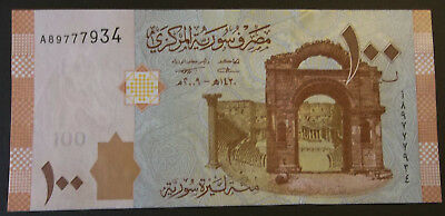 100 Syrian Pounds Bank Note 2009 - Crisp
