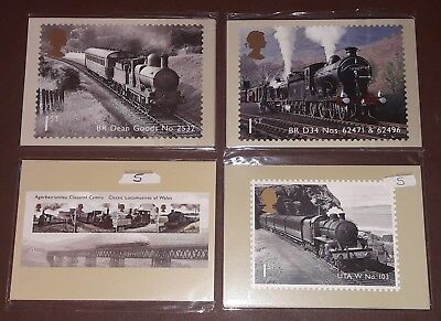 Royal Mail Postcards 4 Sets CLASSIC LOCOMOTIVES ENGLAND WALES IRELAND SCOTLAND