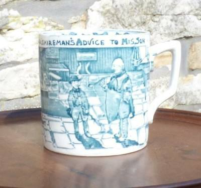 An Albion Potteries Bourne And Leigh Yorkshire 'tyke' Mug Circa 1920