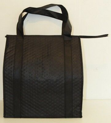 """(4) pc 14.5"""" X 9.5"""" X 13"""" Insulated Delivery Bag Hot Food Warm Cold Carry black"""