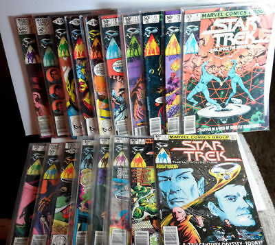 1979-1981 Star Trek Marvel Comic Book Series of 18- Your Choice or Sets
