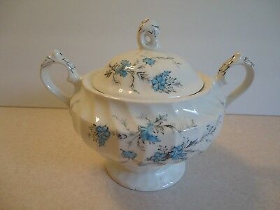 MYOTT STAFFORDSHIRE FORGET ME NOT SUGAR BOWL w/ lid Excellent Condtition England