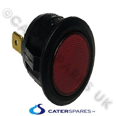 Round Universal Red Lens Indicator Signal Light / Lamp 230V 4A 21Mm Fitting