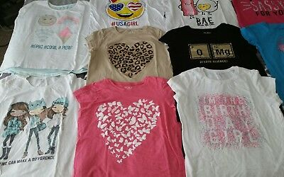 Girls Lot T-shirts, Tanks 31 pcs 14 14/16 Children's Place, Aeropostale, Justice