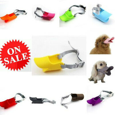 Stylish Strap Design Duck Mouth Shape Silicone Muzzle Mouth Cover Mask For Dog