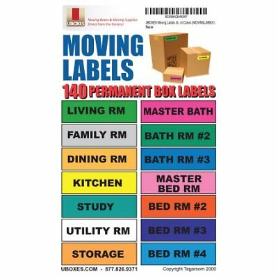Moving Labels Identify Moving Box Contents 140 Labels, 14 Different W