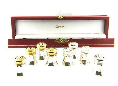 Cartier Vintage Salt & Pepper Shakers in Sterling Silver AS IS NO RESERVE