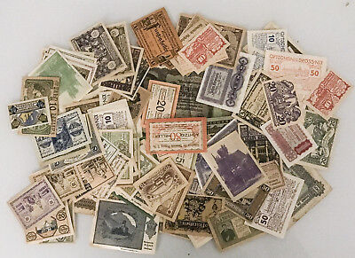 Lot of 100 Pieces of Notgeld Currency No Minimum Nice Mix
