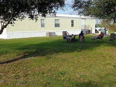 Florida 2/3 acre Lot with Mobile Home Trailer 14' x 66' 260 sq ft. - Furnished