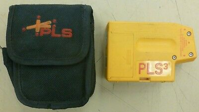 Pacific Laser Systems PLS3 3-Point Red Beam Laser Level with Case