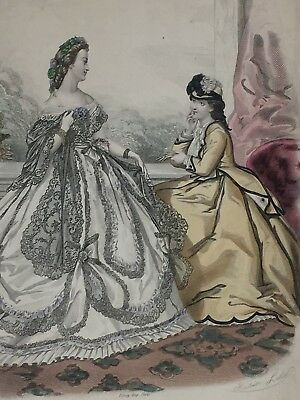 Ladies Fashion Print La Mode Illustree 23905 Antique