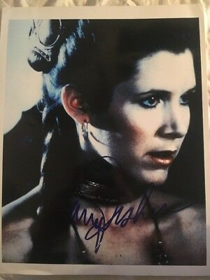 Autograph Signed Photo Carrie Fisher Princess Leia