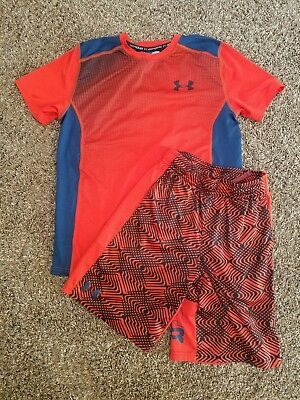 Under Armour Boys Large Shirt and Medium Shorts