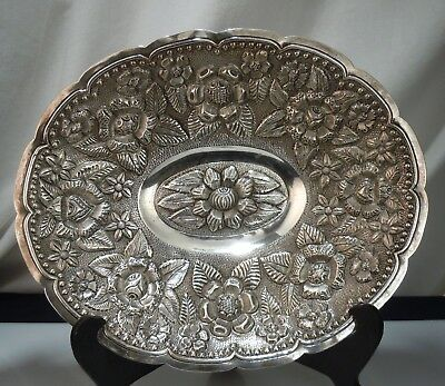 Mexican Maciel 900 Sterling Silver Repousse Bowl 540g      51779