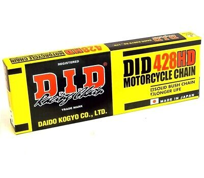 DID Heavy-Duty Standard Series 428HD Chain 134 Links for Street Motorcycle