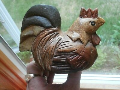 Awesome handmade carved rooster doorstop