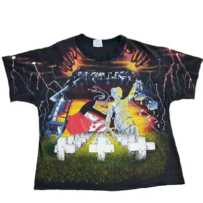 Vintage Metallica shirt 1991 Album all Over Print double sided Metal 90s Rock