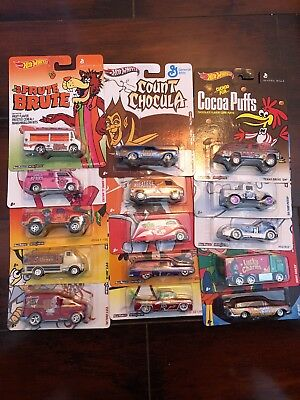 Hot Wheels Cereal General Mills Lot Of 15