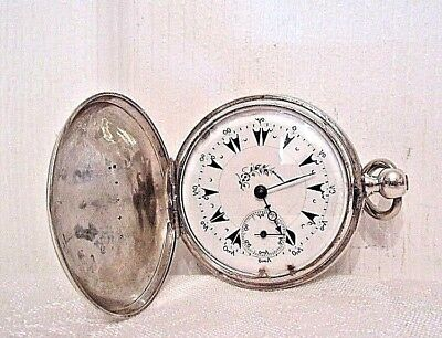 Antique Mid 19Th Century Ottoman Empire Silver Pocket Watch