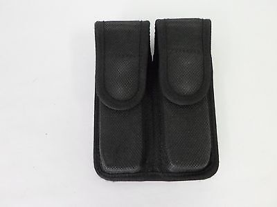 Bianchi AccuMold Nylon Double Magazine Pouch with Top Flap Double Snap Closure